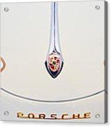 Porsche 1600 Hood Emblem Acrylic Print by Jill Reger