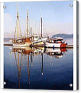 Port Orchard Marina Reflections Acrylic Print