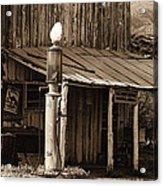 Post Office-gas Station Ghost Town Wagoner Arizona 1968 Acrylic Print