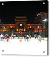 Providence On A Cold December Evening Acrylic Print