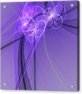 Purple Illusion Acrylic Print