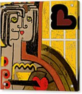 Queen Of Hearts Of Egypt Acrylic Print