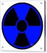 Radiation Warning Sign Acrylic Print