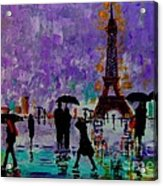 Rain In Paris Acrylic Print