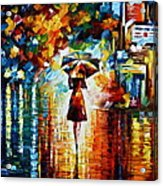 Rain Princess - Palette Knife Landscape Oil Painting On Canvas By Leonid Afremov Acrylic Print