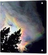 Rainbow Cloud Acrylic Print