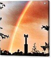 Rainbow Over The City Acrylic Print