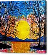 Raining Sunset Acrylic Print