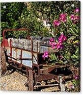 Ranch Wagon Cross Over Acrylic Print