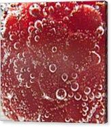 Raspberry Macro Acrylic Print