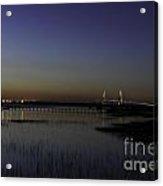 Ravenel Bridge At Dusk Acrylic Print