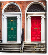 Red And Green Acrylic Print