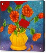 Red And Orange Flowers Acrylic Print