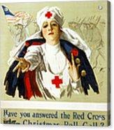 Red Cross Poster, C1918 Acrylic Print