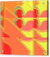Red Effect Acrylic Print by David Skrypnyk