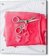 Red Fleece Acrylic Print