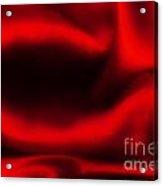 Red Folded Satin Background Acrylic Print