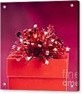 Red Gift Box Acrylic Print