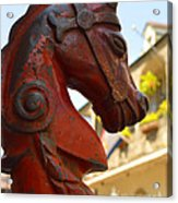 Red Horse Head Post Acrylic Print