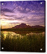 Red Mountain Reflections  Acrylic Print
