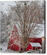 Red Vermont Barn Acrylic Print
