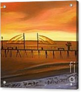 Redondo Beach Pier At Sunset Acrylic Print