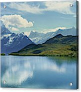 Reflection Of Clouds And Mountain Acrylic Print