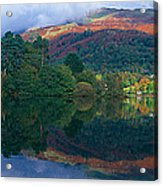 Reflection Of Hills In A Lake Acrylic Print