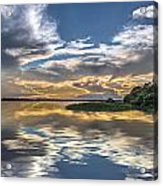 Silver And Blue Acrylic Print