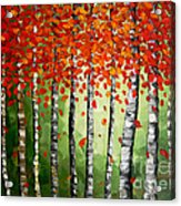 Rich Trees Acrylic Print by Denisa Laura Doltu