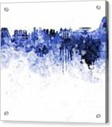 Rio De Janeiro Skyline In Watercolor On White Background Acrylic Print