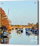 River Frome At Wareham Acrylic Print