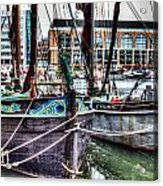 River Thames Sailing Barges. Acrylic Print