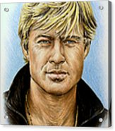 Robert Redford Acrylic Print by Andrew Read