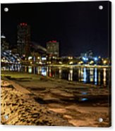 Rochester At Night Acrylic Print