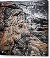 Rock Formations At Georgian Bay Acrylic Print