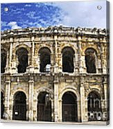 Roman Arena In Nimes France Acrylic Print by Elena Elisseeva