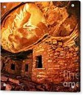 Roof Falling In Ruin Utah Acrylic Print