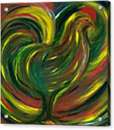 Rooster Acrylic Print by Fanny Diaz