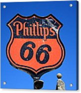 Route 66 - Phillips 66 Petroleum Acrylic Print