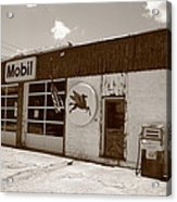 Route 66 - Rusty Mobil Station Acrylic Print