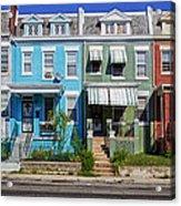 Row Houses In Washington D.c. Acrylic Print