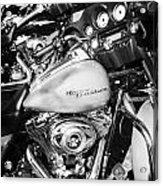 Row Of Harley Davidson Street Glide Motorbikes Outside Motorcycle Dealership Orlando Florida Usa Acrylic Print