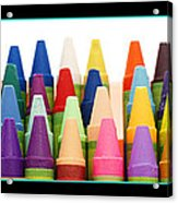 Rows Of Crayons Acrylic Print