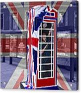 Royal Telephone Box Acrylic Print by David French
