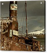 Rusted Whaling Boats Acrylic Print by Amanda Stadther