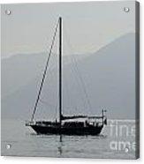 Sailing Boat And Mountain Acrylic Print