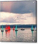 Sailing On Marine Lake A Reflection Acrylic Print