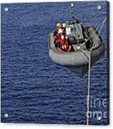 Sailors Lower A Rigid-hull Inflatable Acrylic Print