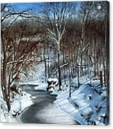 Same Creek Different Place Acrylic Print by Denny Dowdy